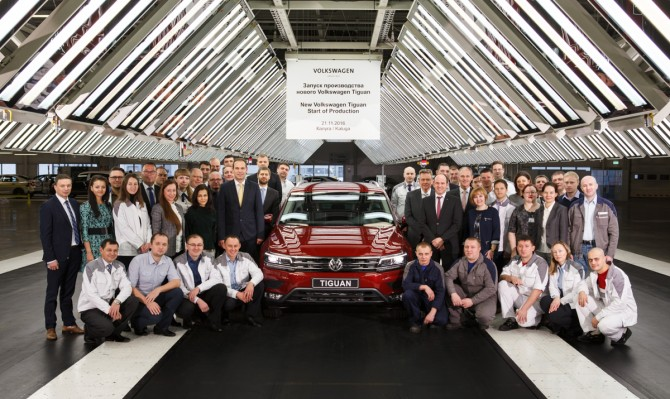 The New Tiguan in Kaluga Volkswagen Group Rus