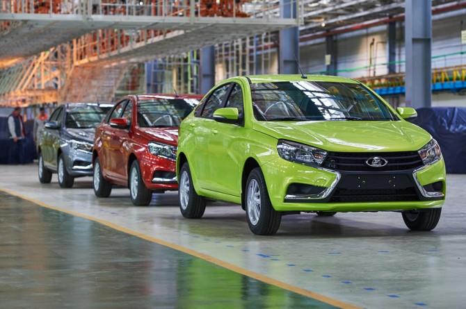 В прошлом году производство легковых автомобилей в Российской Федерации уменьшилось на7,4%