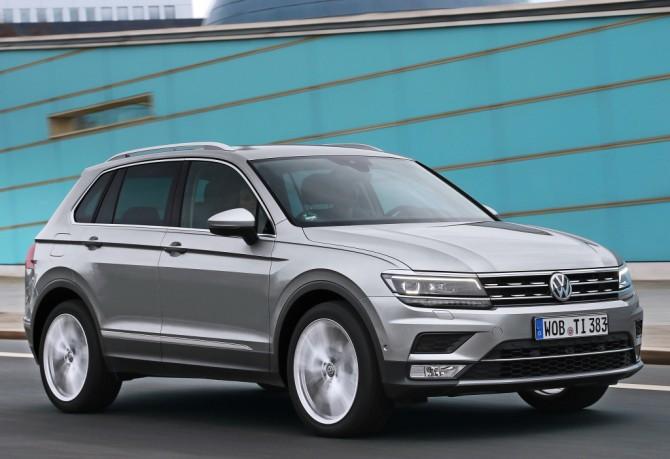 Новый Фольксваген Tiguan всередине зимы стал самым продаваемым SUV вевропейских странах