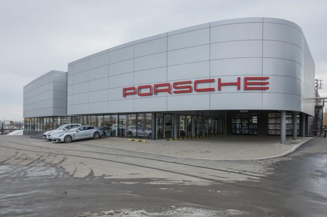 Порше открыла новый дилерский центр вКрасноярске