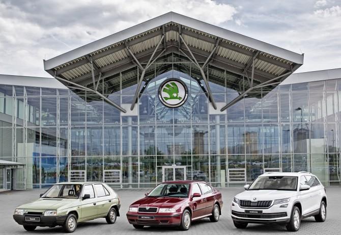 Шкода выпустила 15 млн авто всоставе VW Group