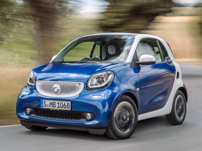 Продажи автомобилей smart вРоссии выросли в2,5 раза