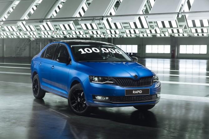 В России выпущен 100-тысячный автомобиль Skoda Rapid
