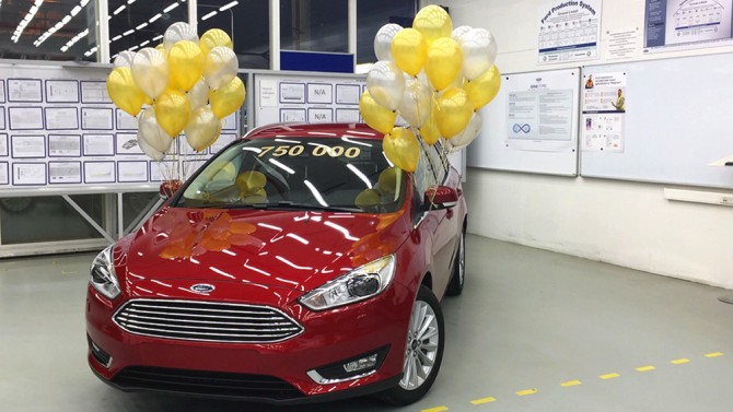 Ford Focus 750000th car at VSV plant 1000