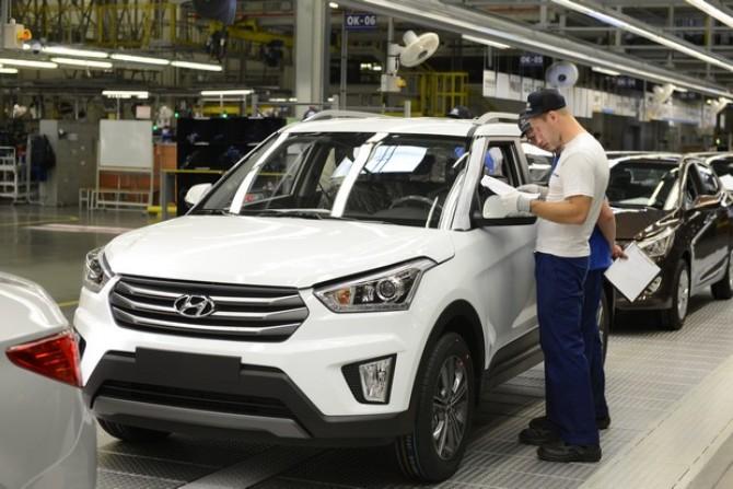 Производство авто Хюндай в РФ в нынешнем 2017-ом выросло на13%