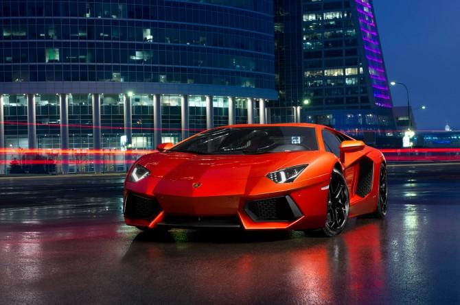 Lamborghini Aventador in Moscow