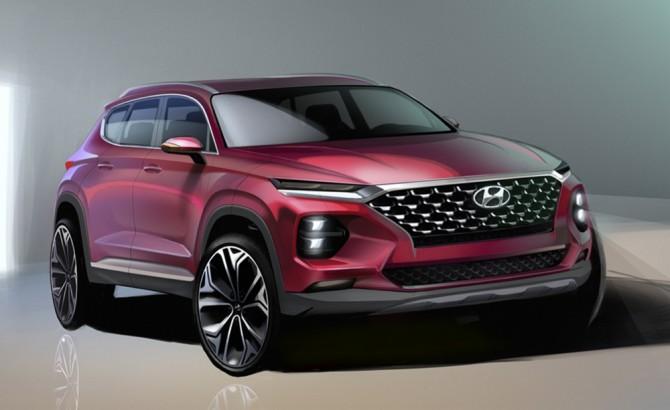 Hyundai показал, как будет выглядеть новый Santa Fe