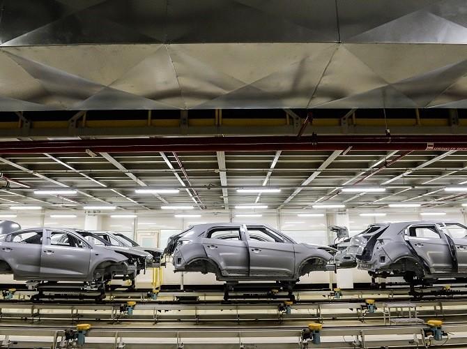 Петербургский завод Hyundai в 1 полугодии увеличил объем производства на 7%